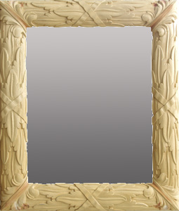 hand carved frame-raw wood